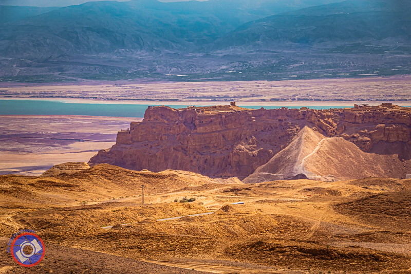 A Distant View of the Fortress of Masada Overlooking the Dead Sea (©simon@myeclecticimages.com)