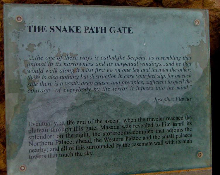 Entrance to the Snake Path up Masada