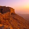Gorgeous sunrise from atop Masada
