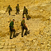 Israeli soldiers getting their morning exercise up Masada