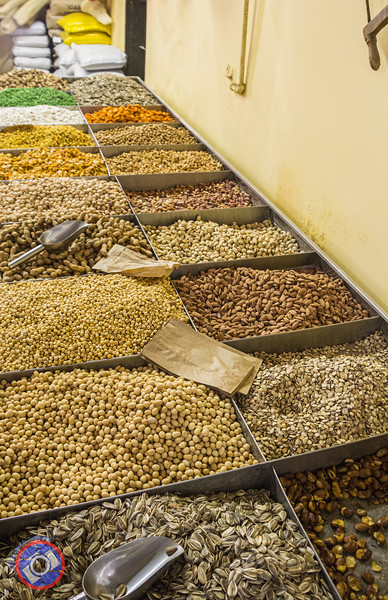 Nuts and Other Seeds on Display at Elbabour Galilee Mill (©simon@myeclecticimages.com)