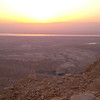 The Judean desert and the Dead Sea in the distance