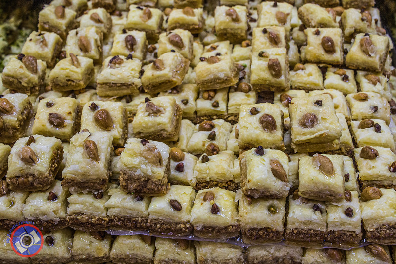 A Single Example of Arabic Sweet Meats Seen in a Bakery in Haifa (©simon@myeclecticimages.com)