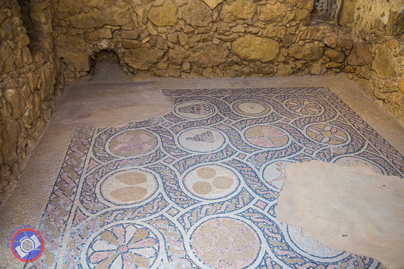 A Mosaic at Massada in Excellent State of Preservation Considering it is Around 2000 Years Old (©simon@myeclecticimages.com)