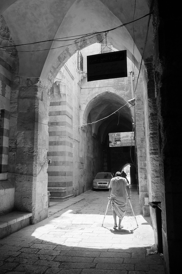 Approaching al-Haram ash-Sharif on King Faisal Street