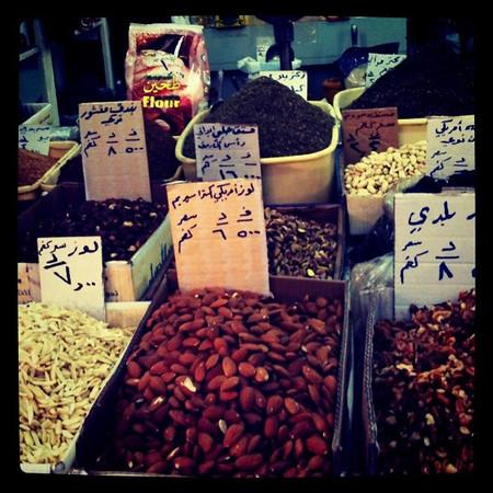Dried goods at main market in Amman, Jordan