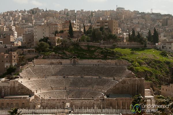 Looking Down on Amman's Roman Amphitheatre - Jordan