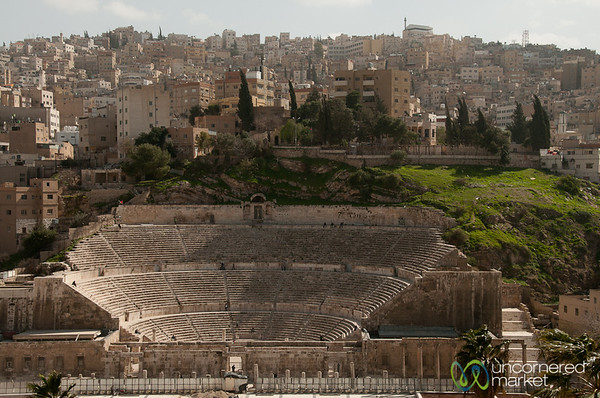 Looking Down on Amman's Roman Amphitheatre - Jordan