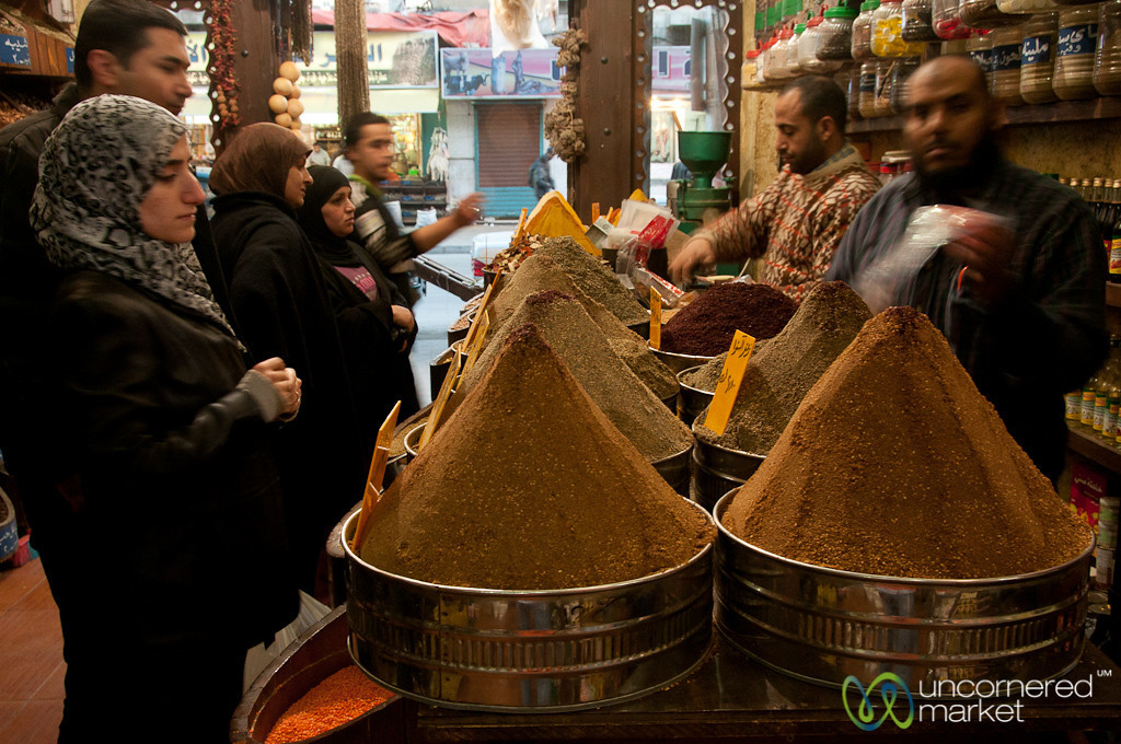 Shopping for Spices in Downtown Amman, Jordan