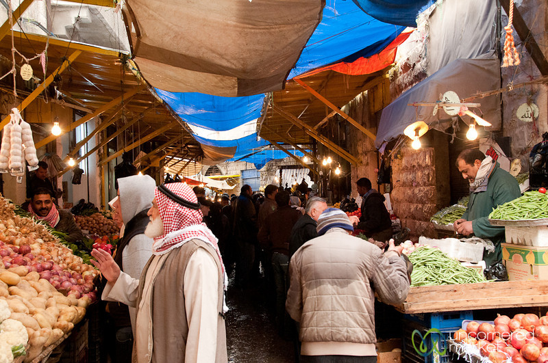 Vegetable and Fruit Market in Downtown Amman, Jordan