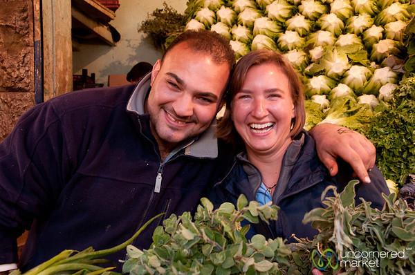 Friendly Vendors at the Vegetable Market - Amman, Jordan