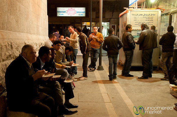Lining Up for Amman's Best Knafeh - Jordan