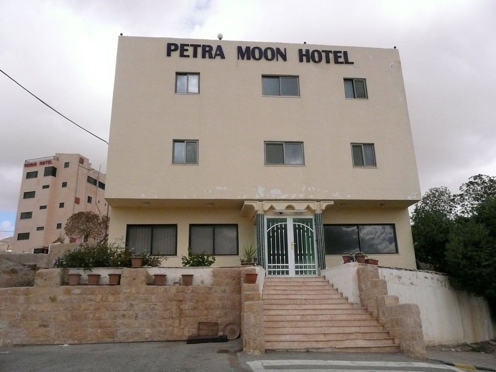 """Petra Moon Hotel in Wadi Musa, a couple of minutes from the entrance of Petra.  We were very happy with our stay here, the brothers were wonderful hosts, picked us up in Aqaba and tooks us to Wadi Rum without any problems.  <a href=""""http://www.petramoonhotel.com/index.swf"""">http://www.petramoonhotel.com/index.swf</a>"""