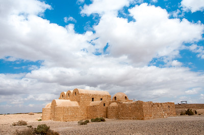 Qasr Kharana in the desert of Amman, Jordan