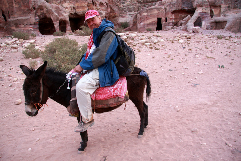 Getting to the  village of Umm Syhum nr Wadi Musa (Petra) was great fun on the Donkey
