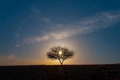Sunset in Feynan, Arabah, Jordan