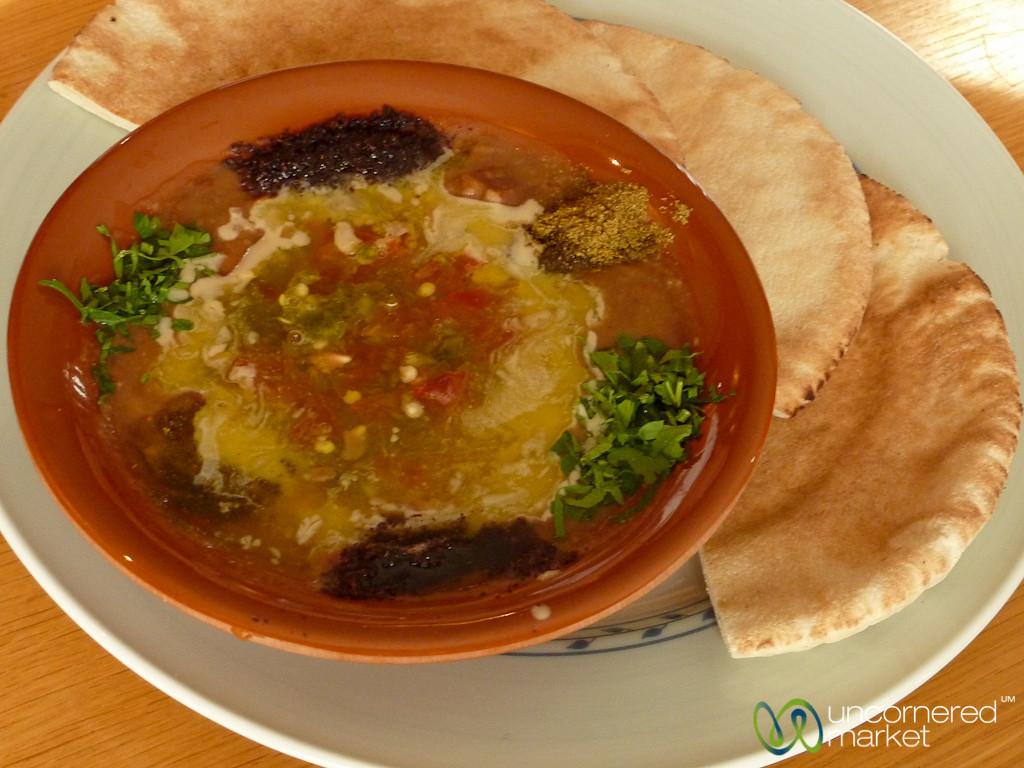 Hearty Dose of Foul (crushed beans) - Amman, Jordan