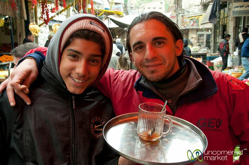 Friendly Tea Vendor at the Market in Downtown Amman, Jordan