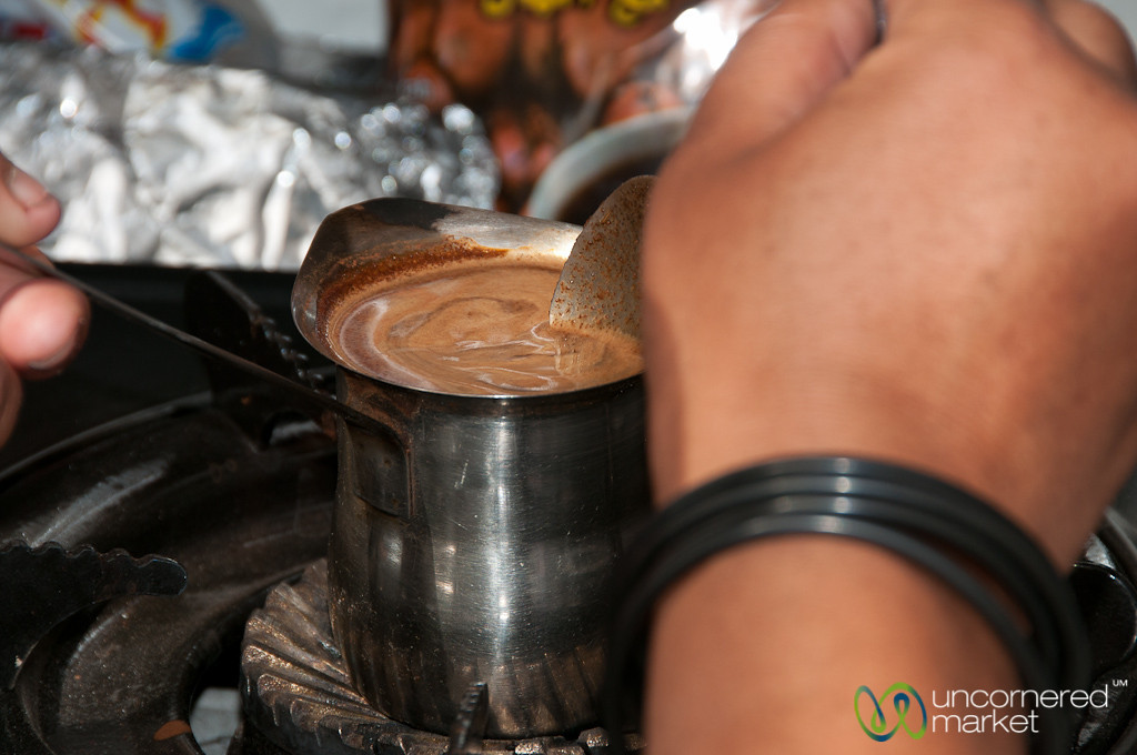 Carefully Stirring the Coffee - Aqaba, Jordan