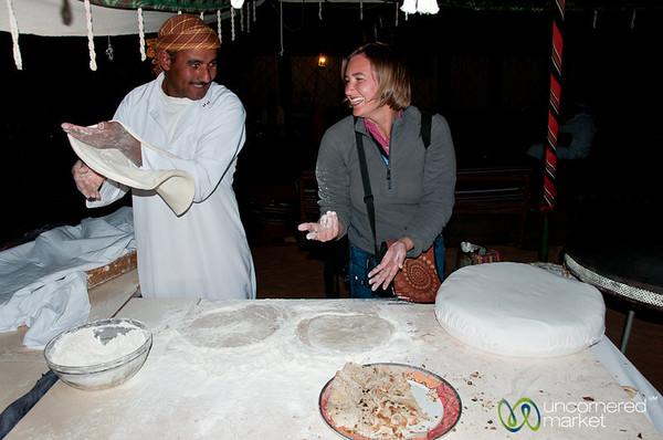 Learning to Make Shrak (Traditional Bread) - Wadi Rum, Jordan