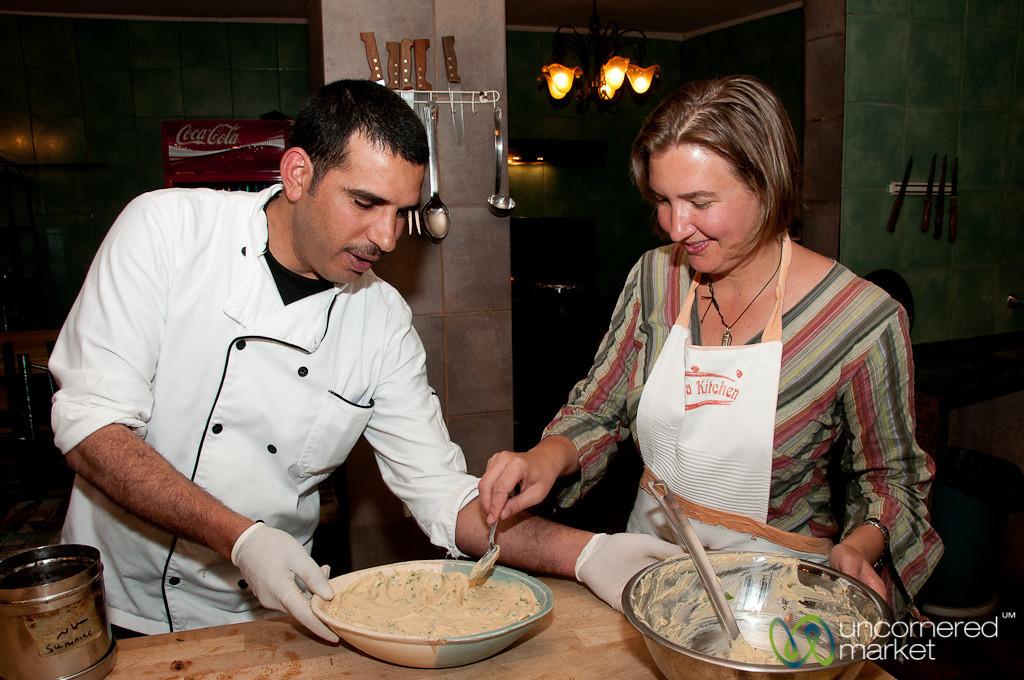 Serving up the Hummus - Petra Kitchen, Jordan