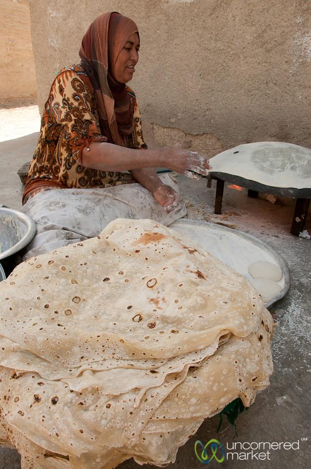 Big Piles of Shrak (flat bread) - Ghor al Mazra'a, Jordan