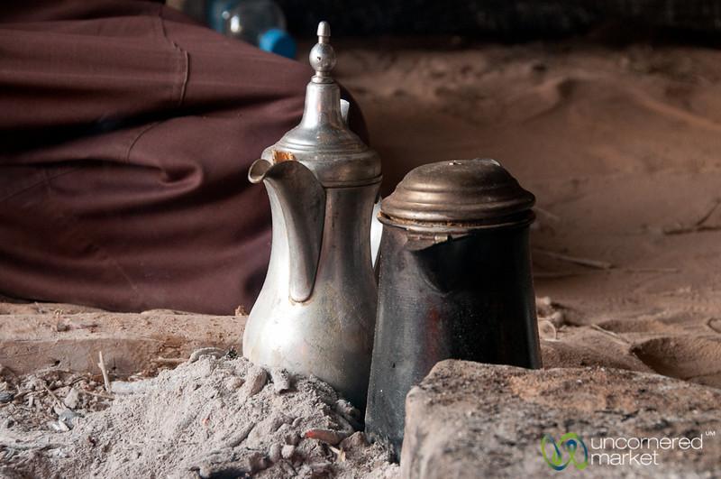 Keeping the Coffee Hot in the Fire - Wadi Rum, Jordan