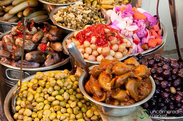 Olives, Beans, Salads -- Streets of Amman, Jordan