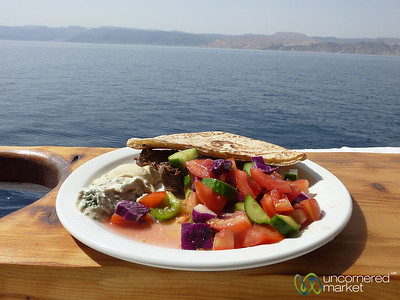 Lunch with a View of the Red Sea - Aqaba, Jordan
