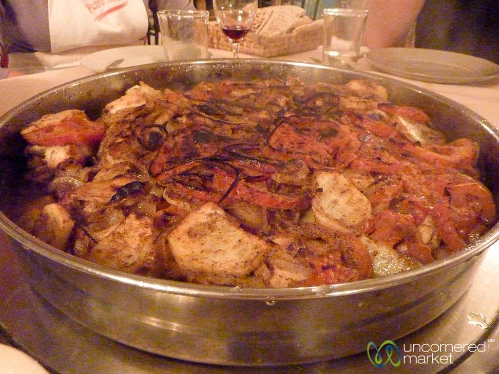 Suniyat Dijaj (Oven Roasted Chicken) at Petra Kitchen - Jordan