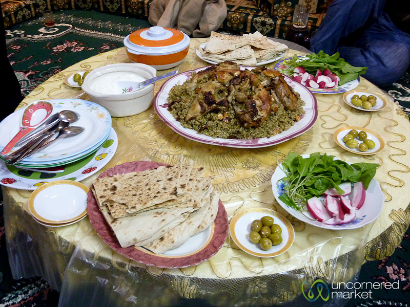 Family Dinner in Rasun, Jordan