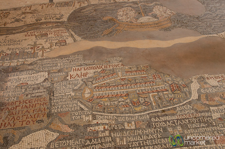 Madaba Mosaic Map at St. George Church - Jordan