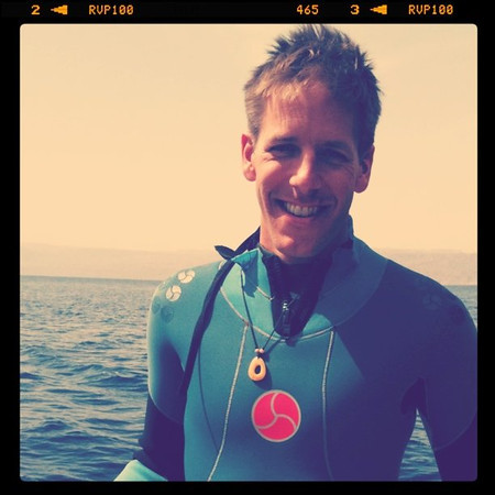 Dan ready for 2nd dive - Aqaba, Jordan