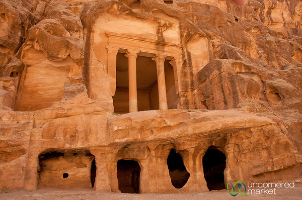 Carvings and Tombs at Little Petra, Jordan