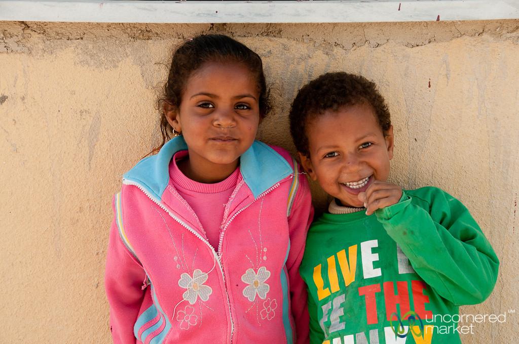 Kids Near the Dead Sea - Ghor El Safi, Jordan