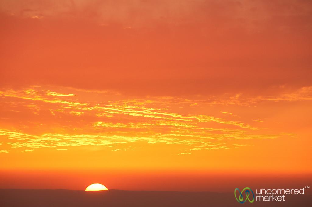 Sunset at Dana Valley - Jordan