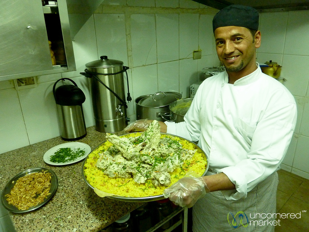 Full Tray of Mansaf - Dana, Jordan