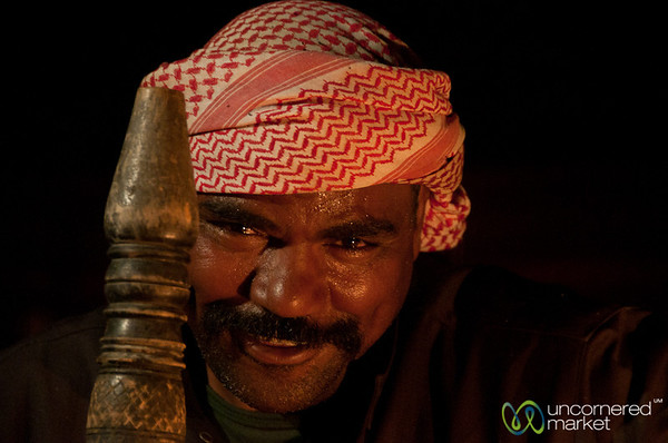 Sly Smile from the Coffee Master - Wadi Rum, Jordan