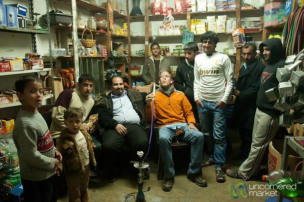 Evening Shisha at the Local Store in Rasun, Jordan