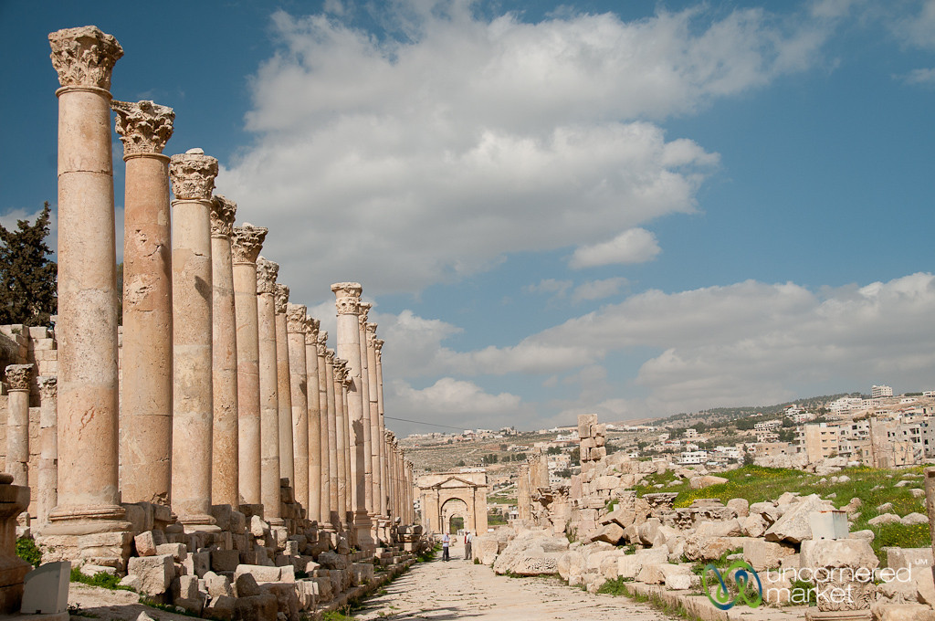 Walking Down the Cardo of Ancient Jerash - Jordan