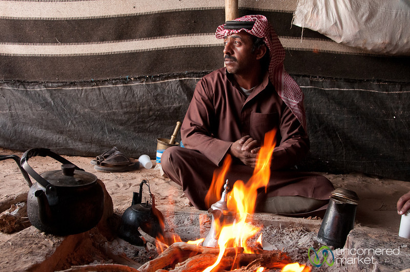 Contemplation Over the Fire - Wadi Rum, Jordan