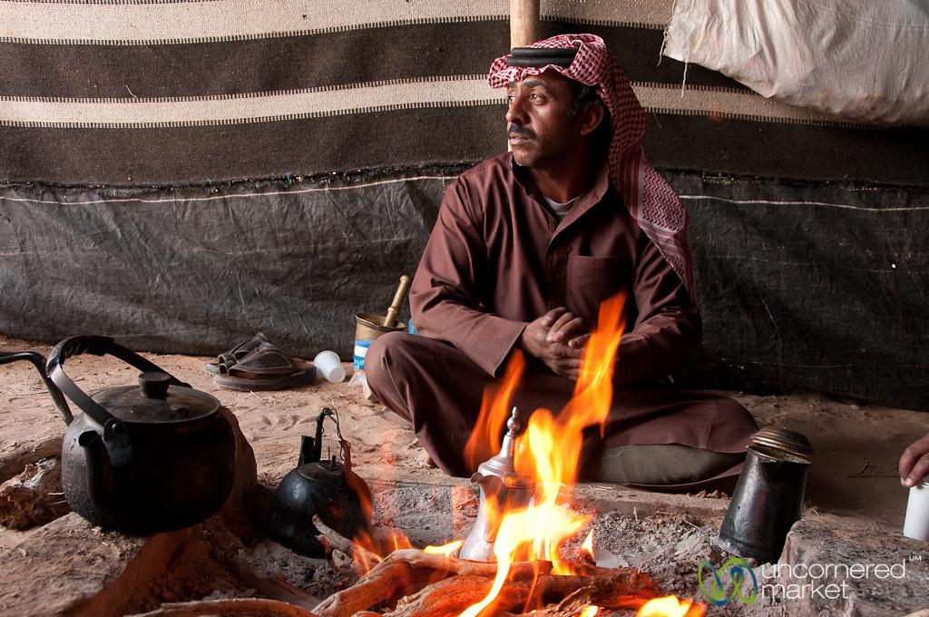 Contemplation Over the Fire - Wadi Rum, Jordan