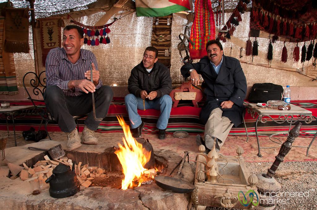 Tea Time Near Qasr Khan - Jordan