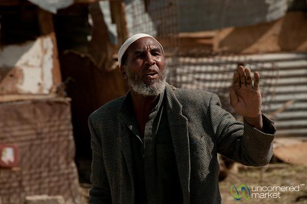 Chatting with a Shepherd - Ghor el Safi, Jordan
