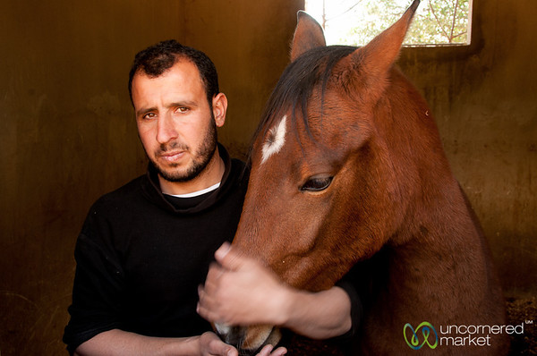 A Man with His Horse - Jerash, Jordan