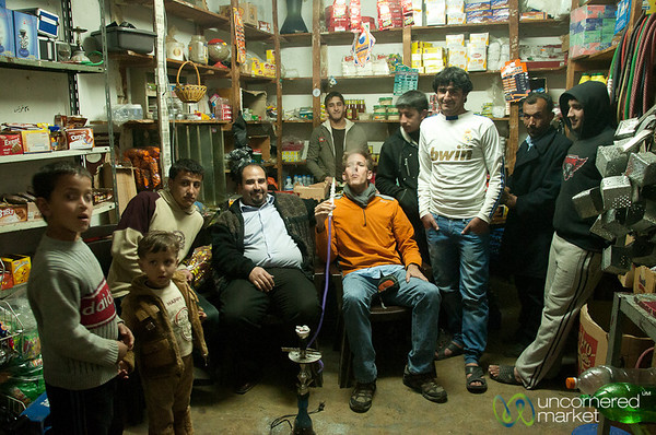 Evening Shisha at the Local Store in Rasun, Jordan