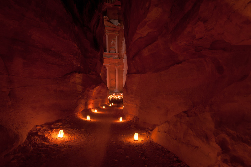 Petra, Jordan Illuminated in the Night