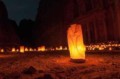 Night in Petra, Jordan