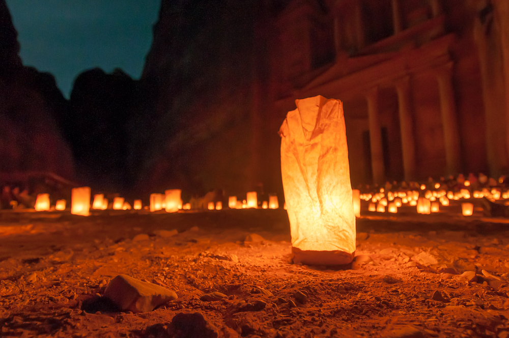 The Lights of Petra at Night
