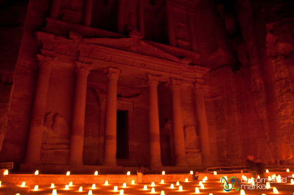 Enjoying Time at Petra By Night - Jordan